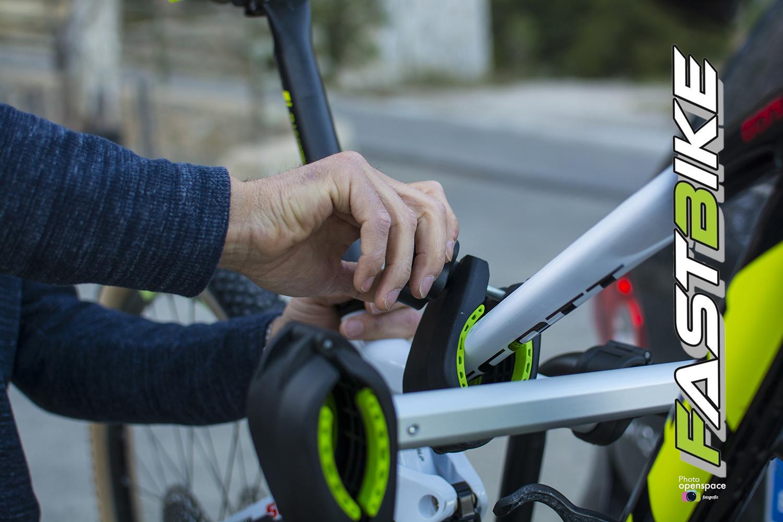 Cierre de refuerzo para una mayor sujección de las bicicletas.